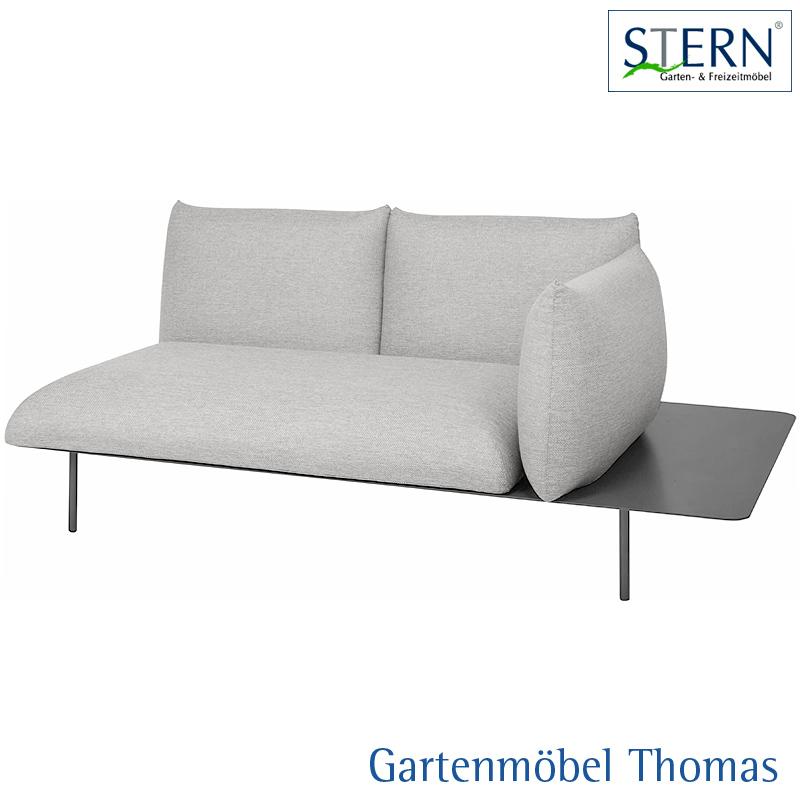 Gartenmöbel Thomas | Stern GOA 2-Sitzer Lounge links Alu Anthrzait ...