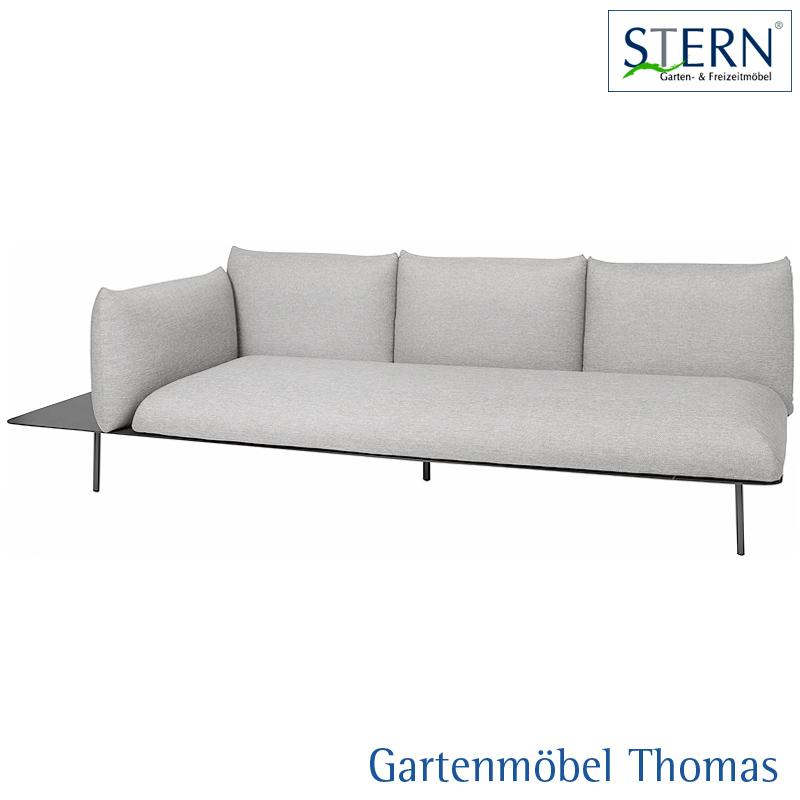 Gartenmöbel Thomas | Stern GOA 3-Sitzer Lounge rechts Alu Anthrzait ...