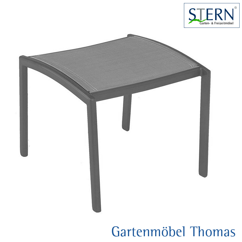 gartenm bel thomas stern milano hocker alu anthrazit bezug textilene silber hier online kaufen. Black Bedroom Furniture Sets. Home Design Ideas