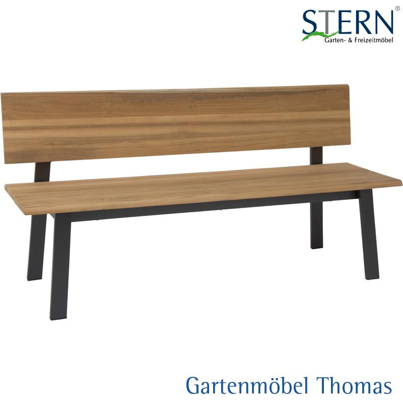 Gartenmöbel Thomas | Stern SAM Bank Alu Anthrazit - Teakbelattung ...