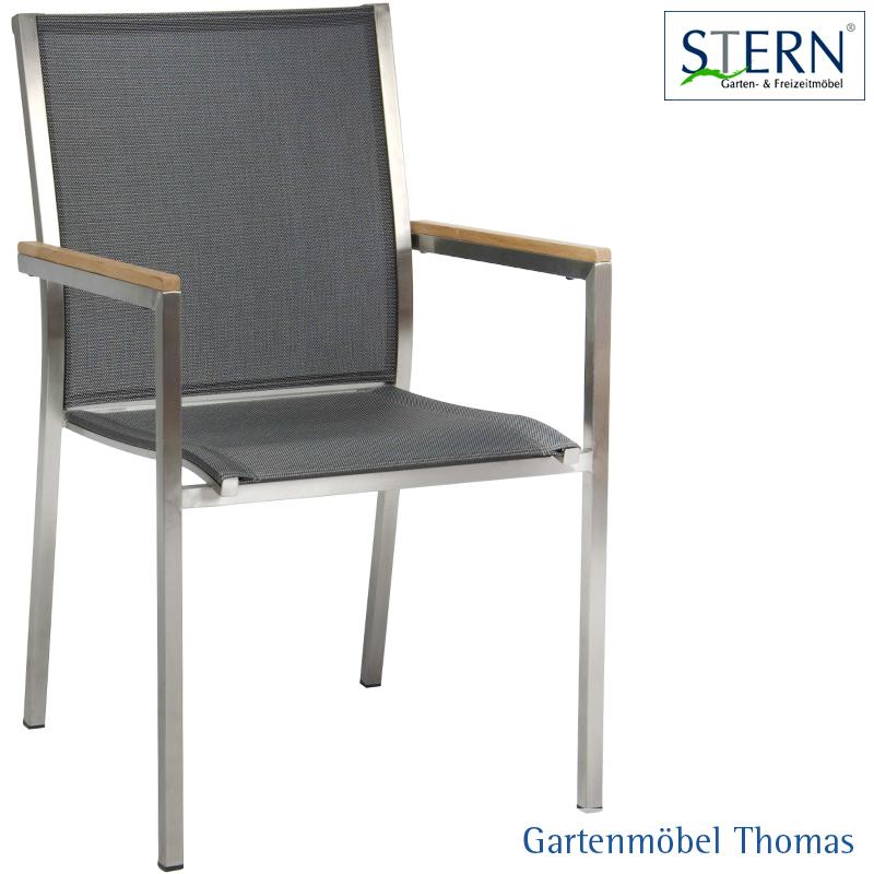 Gartenmöbel Thomas | Stern POLARIS Stapelsessel Edelstahl - Bezug ...