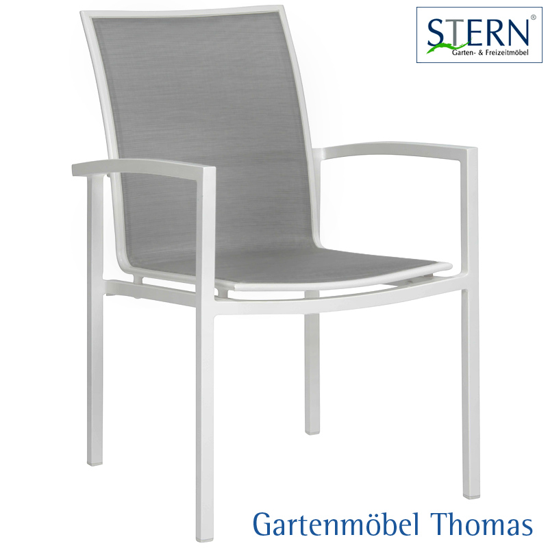 gartenm bel thomas stern skelby stapelsessel alu weiss bezug textilene silber hier online. Black Bedroom Furniture Sets. Home Design Ideas