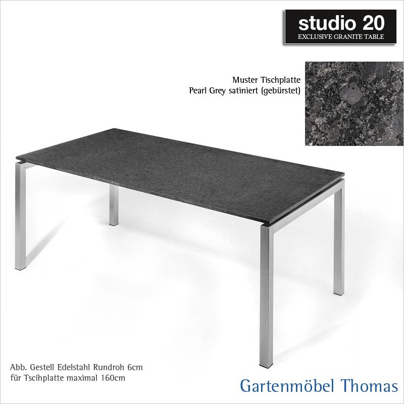Gartenmöbel Thomas | Studio20 Tisch BERGAMO Gestell Edelstahl ...