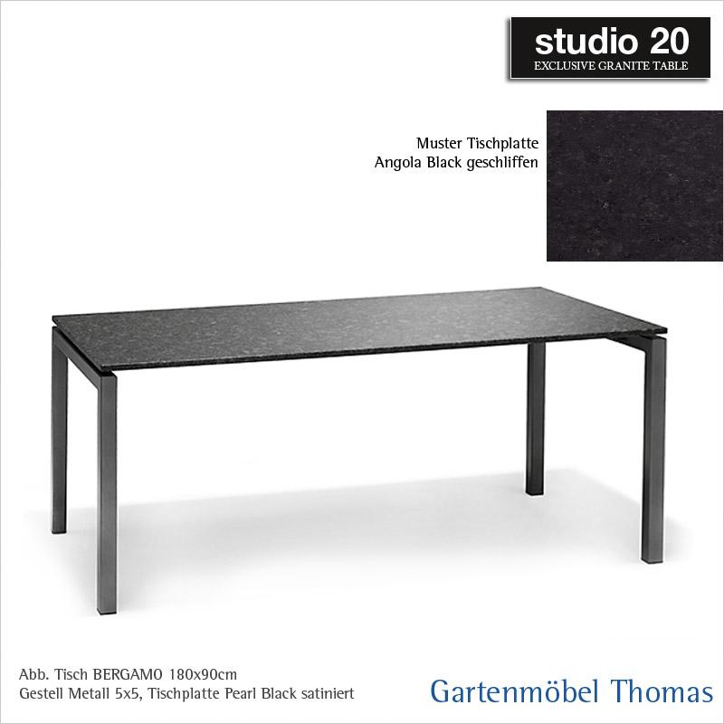 Gartenmöbel Thomas | Studio20 Tisch BERGAMO Gestell Metall Anthrazit ...
