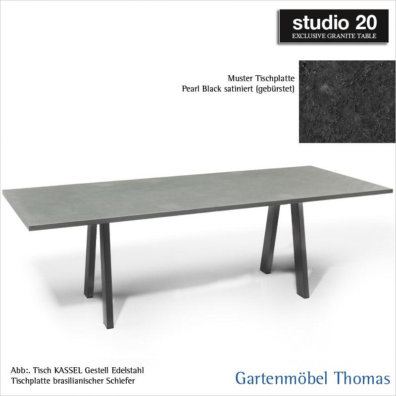 Gartenmöbel Thomas Studio20 Tisch Kassel Gestell Metall Anthrazit