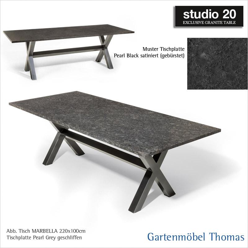 Gartenmöbel Thomas | Studio20 Tisch MARBELLA Gestell Metall ...