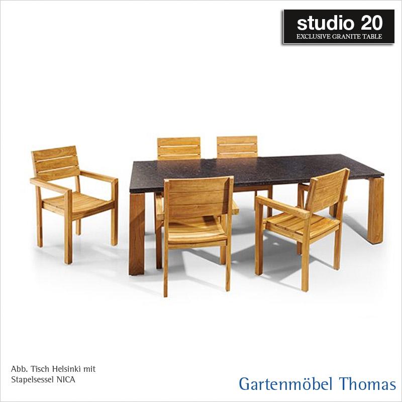 Gartenmöbel Thomas | Studio20 NICA Stapelsessel Gestell Teakholz ...
