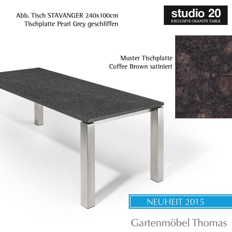 Gartenmöbel Thomas | Studio20 Tisch STAVANGER Gestell Edelstahl ...