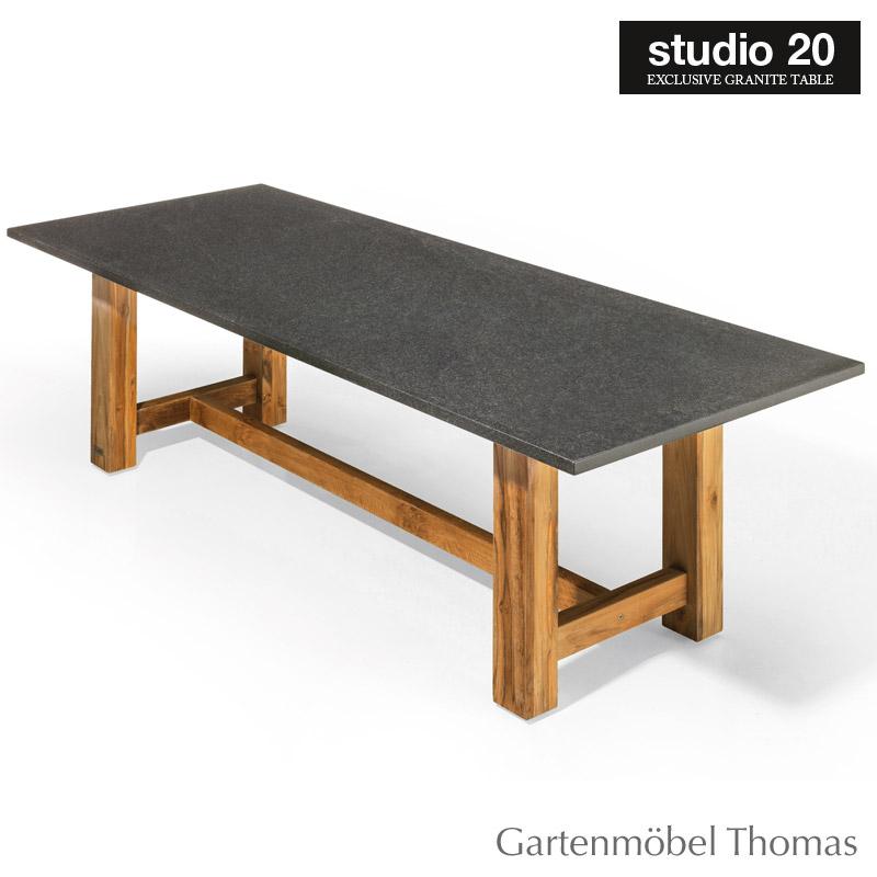 Gartenmöbel Thomas Studio20 Tisch Voss Gestell Teak Tischplatte