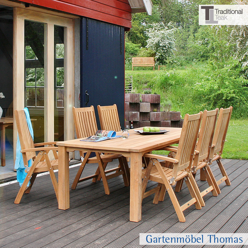 traditional teak victoria hochlehner teakholz gartenm bel thomas. Black Bedroom Furniture Sets. Home Design Ideas
