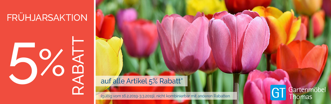 Aktion 5% Frühjahrsrabatt